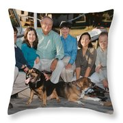 By The Dock Throw Pillow
