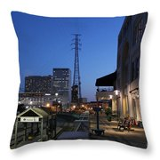 By The Docks Throw Pillow