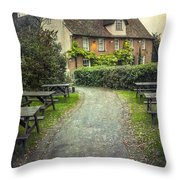 By The End Of A Road Throw Pillow