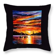 By The Entrance To The Harbor Throw Pillow