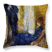 By The Fireside 1875 Throw Pillow