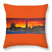 By The Ganga Throw Pillow