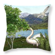 By The Lake 5 Throw Pillow
