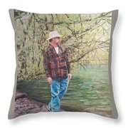 By The Lake - Self Portrait Throw Pillow
