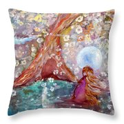 By The Light Of The Full Moon Throw Pillow