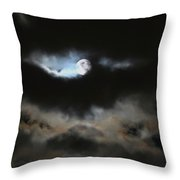 By The Light Of The Silvery Moon Throw Pillow