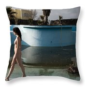 By The Old Pool Throw Pillow