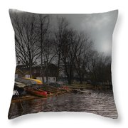 ...by The Pier... Throw Pillow