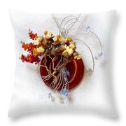 By The Rapids Throw Pillow by Rhonda Chase