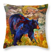 By The River - Black Bear Throw Pillow