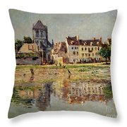 By The River At Vernon Throw Pillow