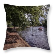 By The River Ouse Throw Pillow