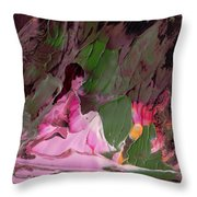 By The River Piedra I Sat Down And Wept Throw Pillow