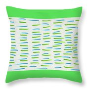 By The River Throw Pillow