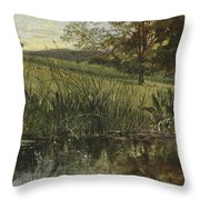 By The Riverbank, 1869 Throw Pillow