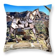 By The Rocks Throw Pillow