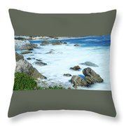 By The Sad Sea Waves Throw Pillow