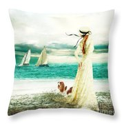 By The Sea Throw Pillow by Shanina Conway