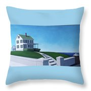 A House By The Sea Throw Pillow