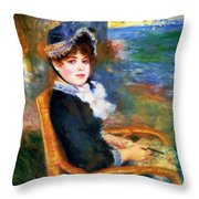 By The Seashore 1883 Throw Pillow