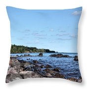By The Shining Big Sea Water Throw Pillow