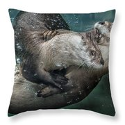 By The Skin In His Teeth Throw Pillow