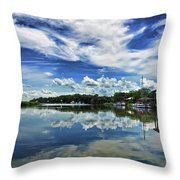By The Still River Throw Pillow
