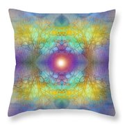 By The Tarnished Light Of The Moon Throw Pillow