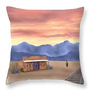 By The Tracks Throw Pillow