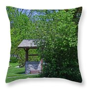 By The Wishing Well-horizontal Throw Pillow