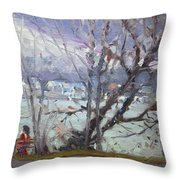 By Tonawanda Canal Throw Pillow