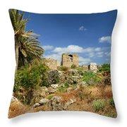 Byblos Castle, Lebanon Throw Pillow