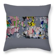 Bygone Days Of An Advertising Billboard Throw Pillow