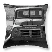 Bygone Dodge In Black And White Throw Pillow