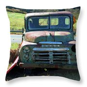 Bygone Dodge Throw Pillow