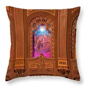 Byrd Theater Alcoves Throw Pillow