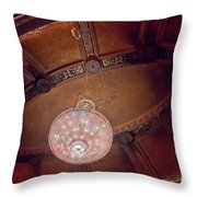 Byrd Theater Chandelier Throw Pillow