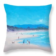 Byron Bay Beach Morning Throw Pillow
