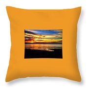 Byron Bay Sunset  Throw Pillow