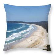 Byron Bay Tallow Beach, Australia Throw Pillow