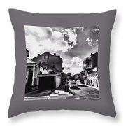 Bywater In Black And White Throw Pillow