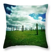 Byxbee Pole Field Throw Pillow