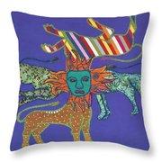 Byzantine Lion Throw Pillow