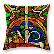 Byzantine Stained Glass Throw Pillow