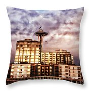 Bzar Seattl E Throw Pillow