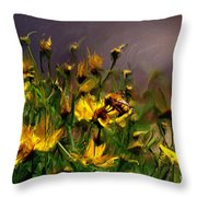 Bzzzzz Throw Pillow