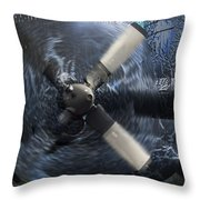 C-130 Through The Storm Throw Pillow
