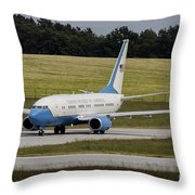 C-40 Clipper Taxiing At Dresden Throw Pillow