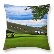 C-47 Special Delivery Throw Pillow