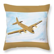 C-54 Warplane Throw Pillow
